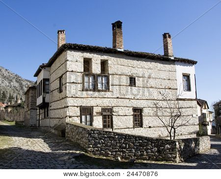 Traditional stone house at Kastoria (Makedonia,Greece)