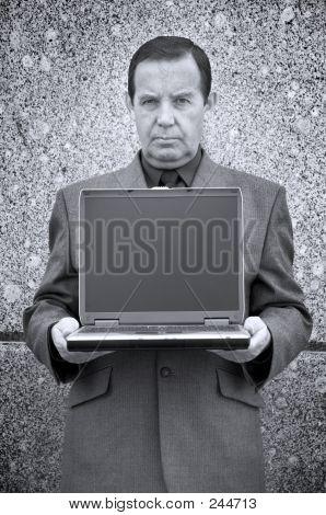 Fazedor de dinheiro e Laptop