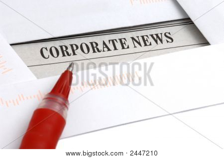 Corporate News In Newspaper