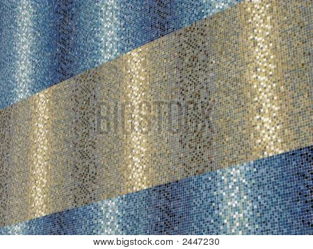 Colored Blue And Golden Tiles