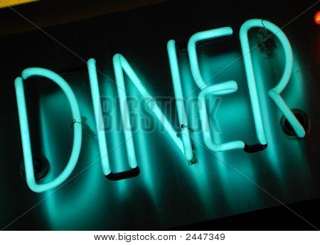Diner lichtreclame