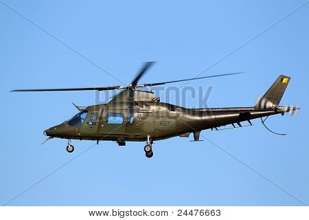 Agusta A 109 helicopter of the Belgian air force