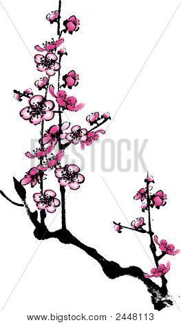 Plum Flower 3.Eps