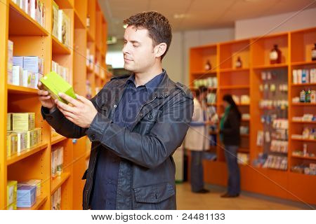 Man Shopping In Pharmacy