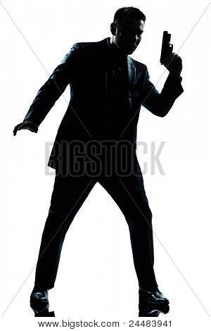 one caucasian spy criminal policeman
