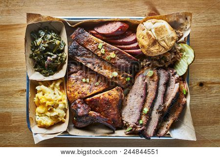 texas bbq style tray with