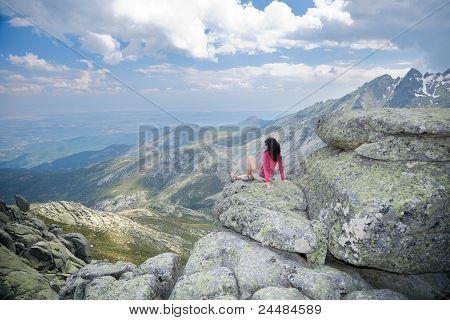 Woman Scenery At Avila