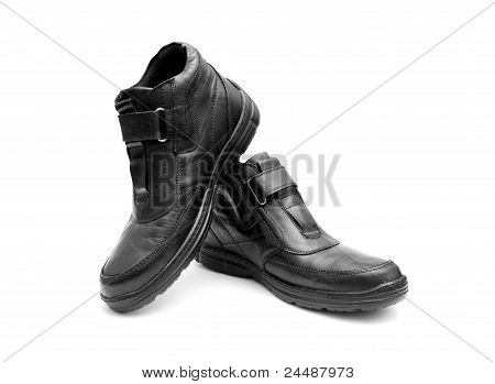 Pair Of Black Man's Boots