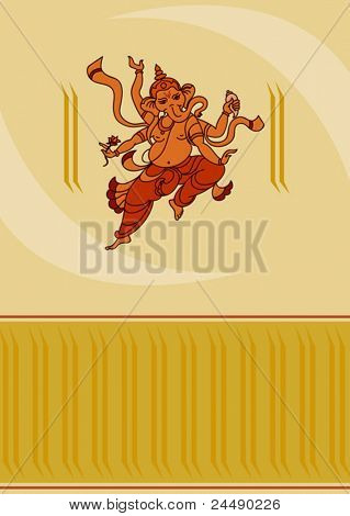 Ganpati Diwali Card Design