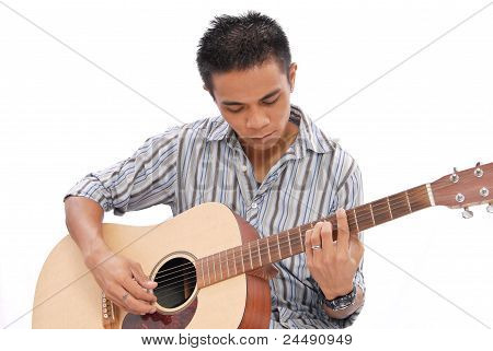 Guy Playing Guitar