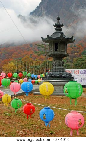 Lanterns At Temple