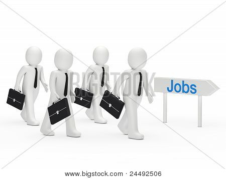 3D Businessman Run Job
