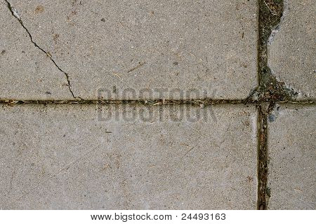 Dirty and Damaged Sidewalk