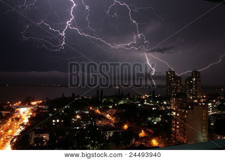 Thunderstorm in Maputo, Africa