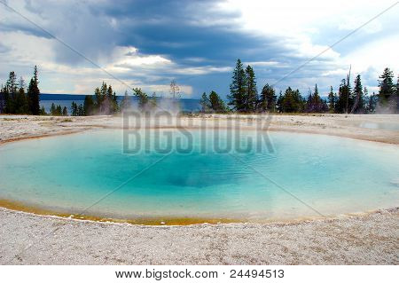 Hot spring at Yellowstone