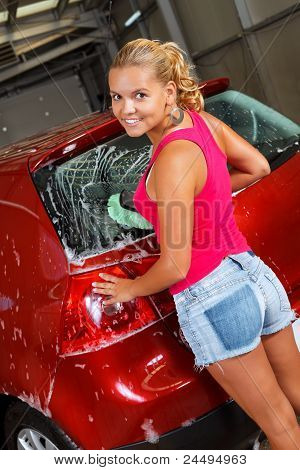 Washing Car