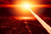 City Destroyed By Nuke Nuclear Bomb High Altitude Nuclear Explosion Missile Explosive Over The Sky W poster