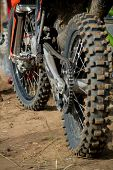 stock photo of dirt-bike  - Sport bike, wheel, tread, chain, sporting events