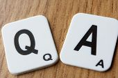 stock photo of scrabble  - Q  - JPG