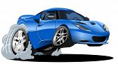 stock photo of skid  - vector cartoon car - JPG