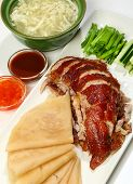 Peking Duck (duck Marinated With Ginger, Honey And Spices In A Classic Chinese Recipe, Fried Fillet  poster