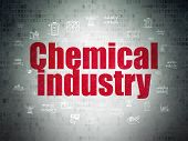 Industry Concept: Painted Red Text Chemical Industry On Digital Data Paper Background With  Hand Dra poster