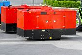 stock photo of generator  - Mobile electric power generator for emergency situations - JPG