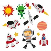 Space Character Design, Space Collection Design, Planetarium Set, Space Exploration poster