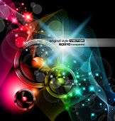 picture of night-club  - Disco Event Background with and Explosion of colurs - JPG
