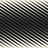 Diagonal Halftone Stripes Seamless Pattern, Slanted Parallel Lines. Vector Geometric Monochrome Text poster