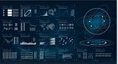 Futuristic User Interface Hud And Infographic Elements. Abstract Virtual Graphic Touch User Interfac poster
