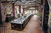 foto of hacienda  - Large dining room in a peruvian hacienda - JPG