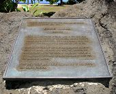 Eddie Aikau Plaque At Waimea Bay