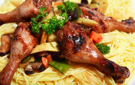 stock photo of stir fry  - A plate of Chinese - JPG