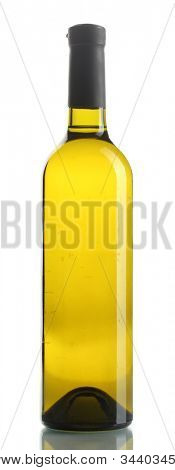bottle of wine isolated on white