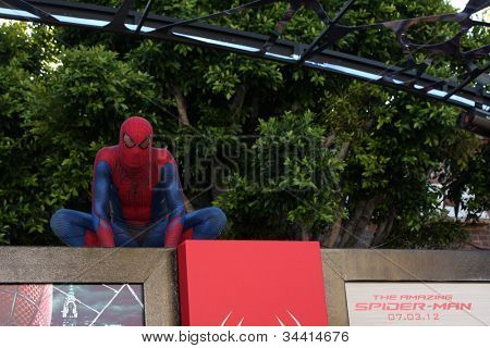 LOS ANGELES - JUN 28:  Atmosphere - Spider-Man Character arrives at the