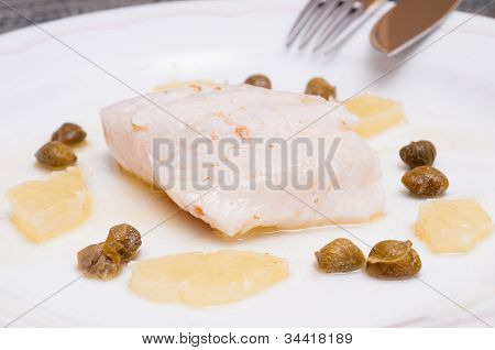 Pikeperch Filet With Lemon And Capers