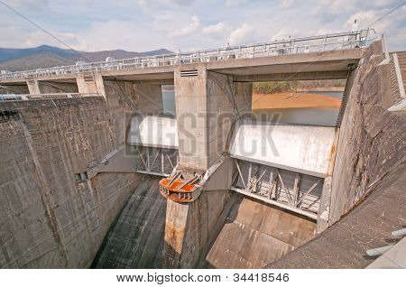 Emergency Spillway For A Dam.