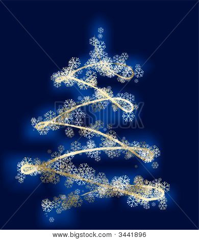 Christmas Wite Snow Tree