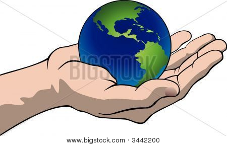 Hand With The Globe