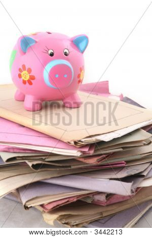 Folders With Piggybank