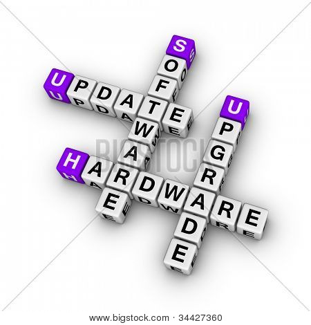 upgrade hardware and update software (cubes crossword series)
