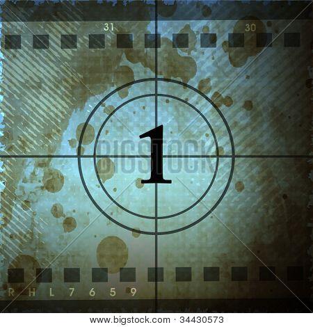 Illustration of film countdown. EPS 10.