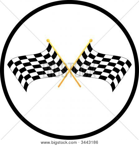 Checkered Flag Symbol.