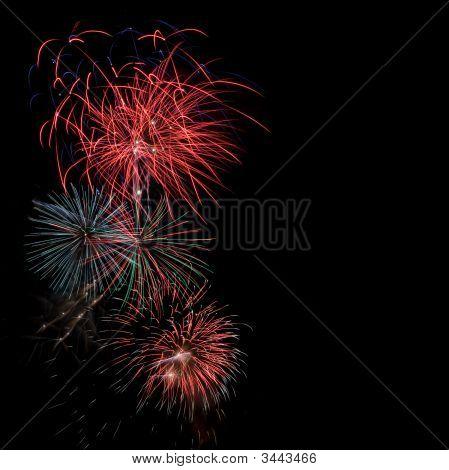 Fireworks On Dark