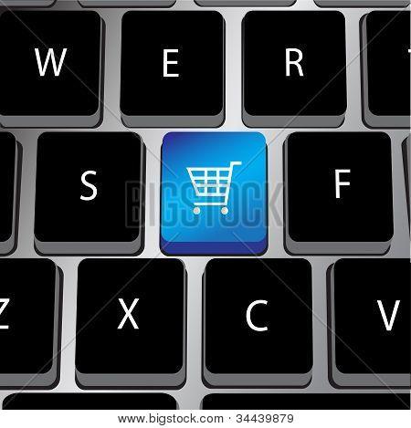 Keyboard With Shopping Cart Key.eps