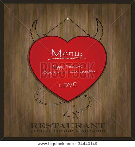 vector blackboard heart Valentine love red