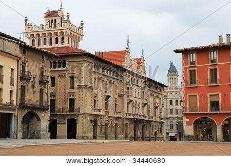 Plaza Mayor In Vic, Catalonia