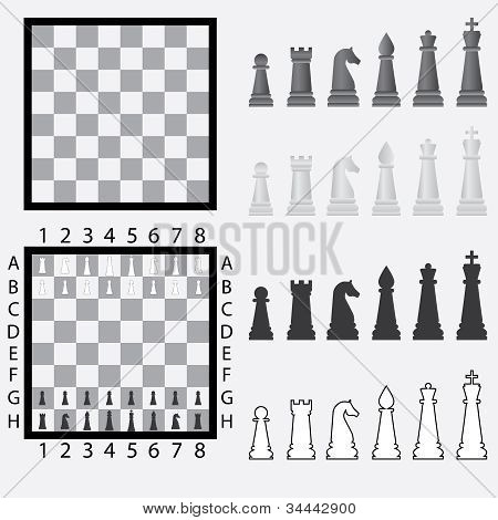 Chessboard With Chess Pieces.
