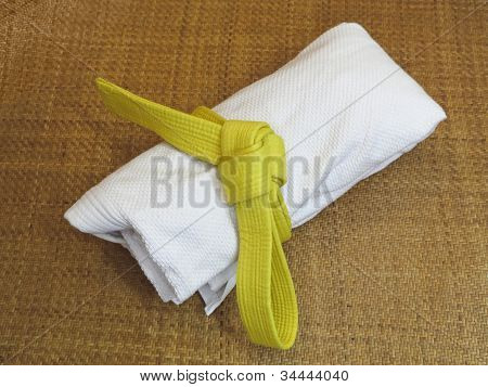 Martial Arts Uniform On Tatami